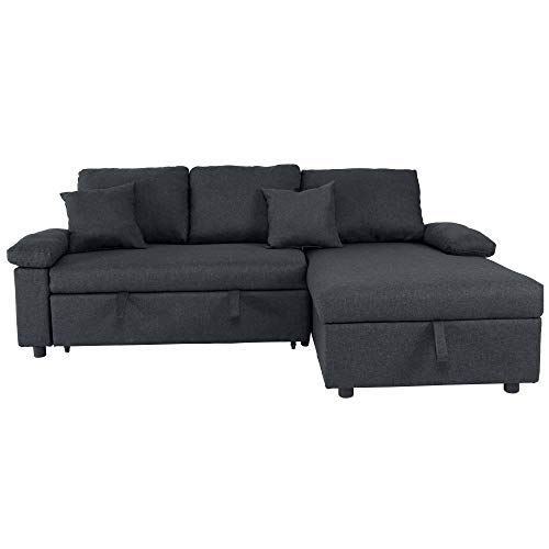 GOOD & GRACIOUS Sectional Sleeper Sofa Couch with Pull Out ...